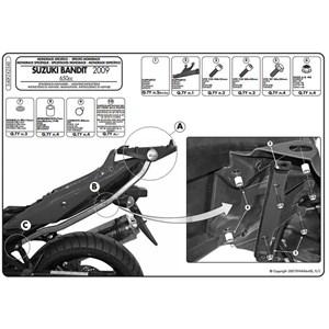 BAGAGEIRO BANDIT 650 2009-2014 MONORACK 540FZ GIVI PRETO
