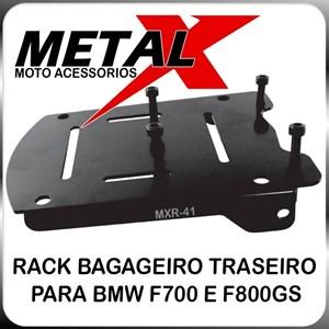 BAGAGEIRO BMW F 800 CHAPA PRETO (METAL X)