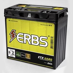 Bateria ERBS ETX8ABS (YB7A / ETX9ABS) Selada Katana / YES / INTRUDER125 / V-BLADE / FYM125 / 150