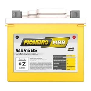 BATERIA PIONEIRO YTZ6LS (MBR6-BS) SELADA TITAN 150 MIX 09 E/D/ BROS 150/160 MIX FAN 125 / 150 09 / BIZ 125 ES 09/13