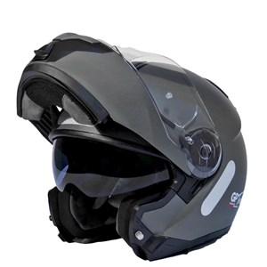 Capacete GP TECH A118 SV Titanium Mono Articulado Robocop Fosco