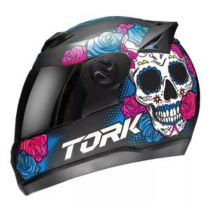 Capacete PRO TORK Evolution G7 Mexican SKULL Fosco