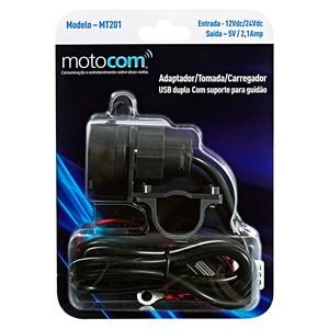 CARREGADOR SMARTPHONE CELULAR DUPLO USB MOTOCOM MT201