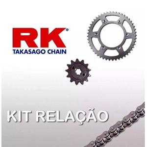 KIT TRANSMISSÃO RELAÇÃO RK DL650 V-STROM 2006-2013 COM RETENTOR