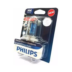LAMPADA FAROL PHILIPS CRYSTAL VISION H4 35/35W TITAN / YBR / TWISTER / FAZER ATE 2010 ( CADA )