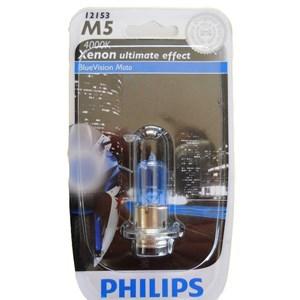 LAMPADA FAROL PHILIPS M5 BLUE VISION 12V 35/35W BIZ 100/125 / BROS 150 2010 E/D / DREAN / CRYPTON / NEO