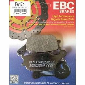 PASTILHA FREIO EBC FA174 CB 600 HORNET 04/07 S/ABS 08/15 C/ABS(T) CBR1000 RR 04/05 (T) VERSYS100015 (T) V-STROM 650 / 1000 12/15 (T) YZF-R1 07/14