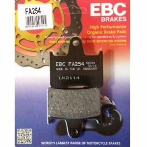 PASTILHA FREIO EBC FA254 TRASEIRA SUZUKI GSX-R750 / 1000 / SRAD 750 / 1000 / HARLEY DAVIDSON XL 883 14/15 / XL 1200 / KAWASAKI ZX14R NINJA 06/14