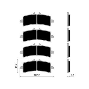 PASTILHA FREIO FISCHER FJ2642PC CBR 1000 RR ABS 2014 (D) SUZUKI GSXR 600 / 750 / 1000 / 11/15 (D) GSX-S 1000 15 (D) GSX 1300 13/15 (D) (2 JOGOS)