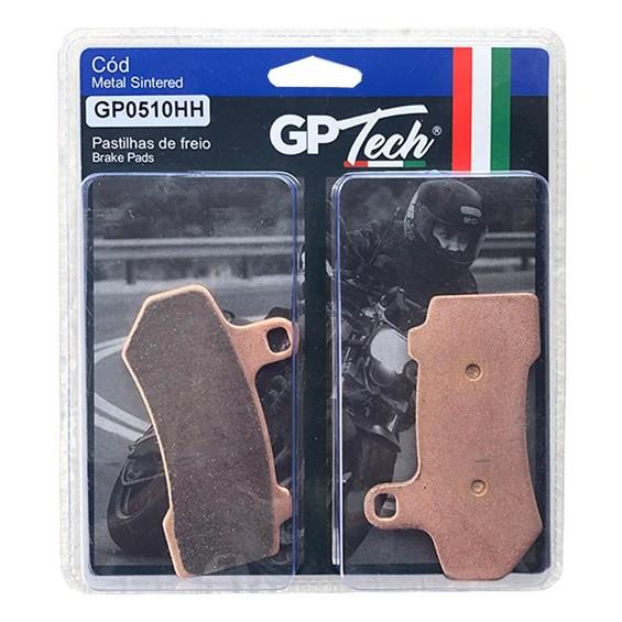 PASTILHA FREIO GP TECH 0510HH (D/T) HARLEY DAVIDSON 1130 V-ROD 2008-15 / 1584 STREET GLIDE / ELECTRA GLIDE / ULTRA GLIDE