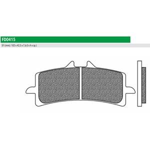 PASTILHA FREIO NEWFREN 415TS CBR1000 RR ABS 2014 (D) SUZUKI GSXR 600 / 750 / 1000/ 11 / 15 (D) GSX-S 1000 15 (D) GSX1300 13-15 (D)