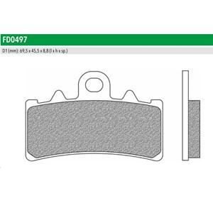 PASTILHA FREIO NEWFREN 497TS BMW G310 16- (D) / KTM DUKE 125 2011 (D) DUKE 200 2012 (D)  DUKE 390 2013 (D) RC 125 / 200 / 390 2014 (D)