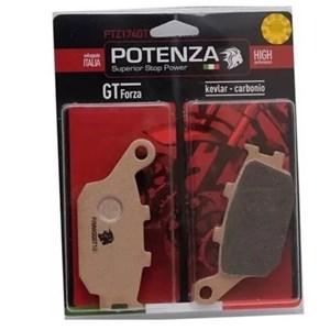 PASTILHA FREIO POTENZA 174GT CB300R /XRE300 C/ABS TRAS/ SHADOW1100/ CB600 HORNET/ HORNET C/ABS/ CBR 900/1000 TRA 04A05 / FAZER600/ BANDIT1250 09