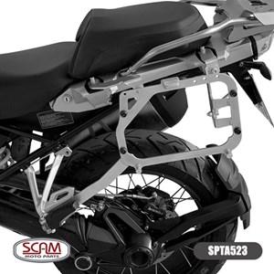 SUPORTE BAU LATERAL SCAM BMW R 1200GS 2013- ADVENTURE / BMW R 1250GS 2019- ADVENTURE PRATA