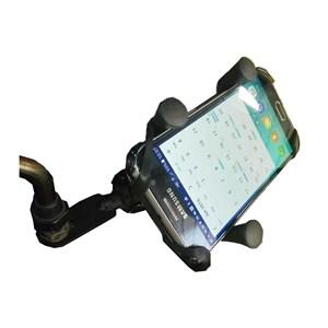 SUPORTE SMARTPHONE CELULAR GARRA FERRO C/ CARREGADOR USB P/ RETROVISOR E GUIDÃO ( STALLION)