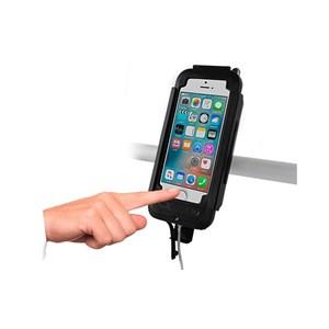 SUPORTE SMARTPHONE CELULAR MOTOCOM CASE TOP Q IPHONE 6/6S PRETO